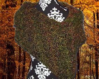 Crochet Neck Warmer, Gaiter/Buff, Cowl, Rustic Forest Green