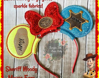 Sheriff Woody Glitter Sparkle Mouse Ears