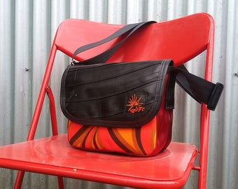 Recycled Bag - Purse made from bike tubes and seatbelt straps