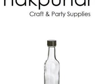 1 pc 50 ml Glass Liquor Bottles with Black Cap