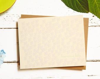Bienvenue Bebe, New Baby Congratulations Letterpress Card