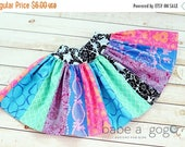 SALE Girls Skirt Pattern Scrappy Twirl -- NB -12 girls PDF Instant
