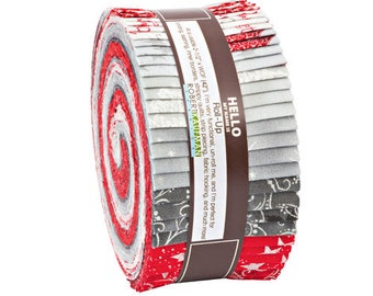 "Robert Kaufman Winter's Grandeur Winter Metallic Accents Roll Up 2.5"" Precut Fabric Quilting Strips Jelly Roll RU-644-40"