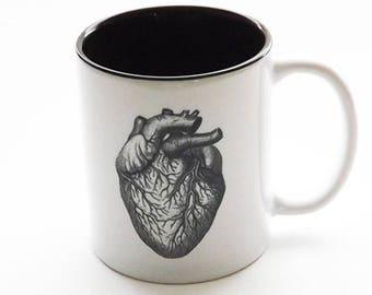 Anatomy Gift coffee MUG doctor nurse practitioner physician assistant skull brain anatomical heart goth home decor halloween tea male office