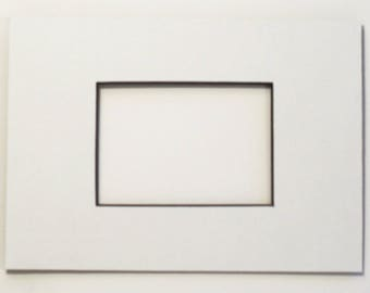 "ACEO mat - White with Black  Core- to fit 5"" x 7"" frame - Mat for Artist Trading Card - Mat for ATC - Frame Matting - Matte"