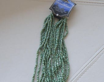 """ON SALE 50% OFF Global Nomad, Glass Seed Bead Strands, 14"""""""