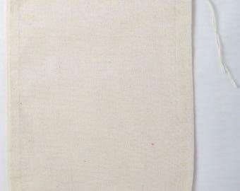 30 5x7 Cotton Muslin Natural Drawstring Bags