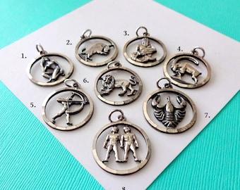 Vintage Sterling Silver Anson Zodiac Charm
