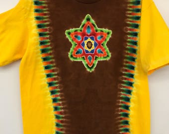 Sunny One So True tie dyed mandala XL tee shirt