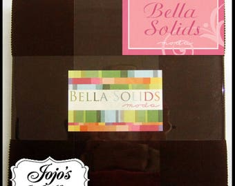 Bella Solids Layer Cake Brown by Moda Fabrics SKU 9900LC 71