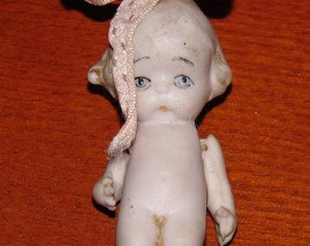 Antique All Bisque Molded Loop Doll