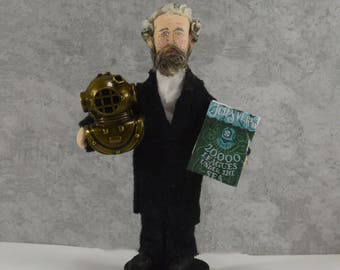Jules Verne French Author Doll 20,000 Leagues Under the Sea Classic Literature