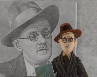 James Joyce Collectible Doll Miniature Art Irish Author Bibliophilia Gift