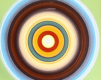 Tree Ring Series, paintings by Tracy Melton of FocusLineArt
