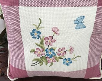 VINTAGE - Cross Stitched Pillow
