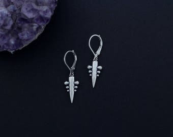 3 Pin Spike Earrings
