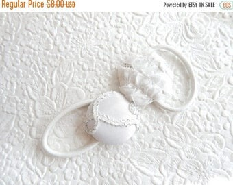 CLEARANCE - 2 white ponytail holder, hair accessory, fashion accessory, womens accessory