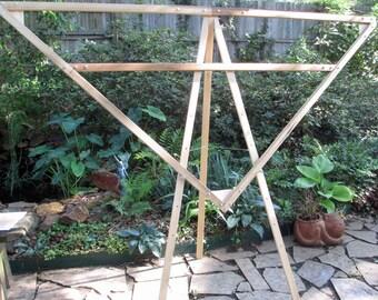 Métier à tisser du tissage de triangle
