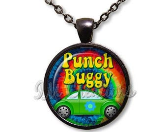 20% OFF - Retro Punch Buggy Glass Dome Pendant or with Chain Link Necklace VT113