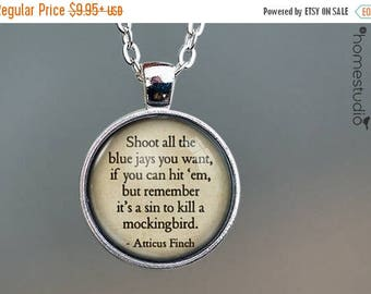 ON SALE - To Kill a Mockingbird Quote jewelry. Necklace, Pendant or Keychain Key Ring. Perfect Gift Present. Glass dome metal charm by HomeS