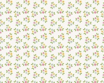 EXTRA15 20% OFF Riley Blake Designs Garden Girl by Zoe Pearn - Posies White