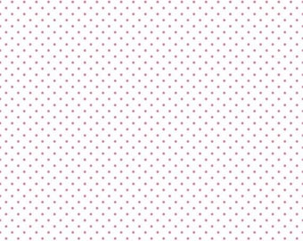 15% OFF Riley Blake Basic Hot Pink Swiss Dots on White