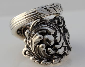 Spoon Ring Sterling Silver Trajan 1892 Reed & Barton Sizes 6-15