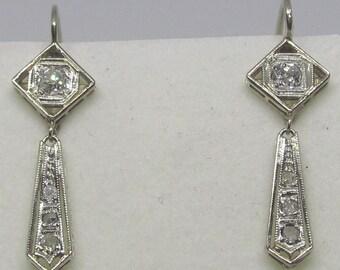 Diamond Hanging Earrings 14Kt Gold