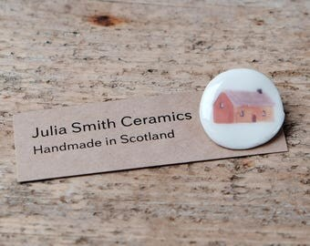 Porcelain Cottage Brooch