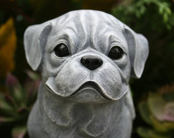 Boxer Dog Angel Statue, Boxer Memorial, Concrete Boxer Statue