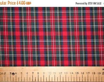 SUMMER SALE Prince Charles style tartan cotton fabric 0.50 metre