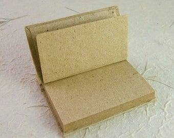 Mini Rustic Peg-Bound Recycled Paper Journal