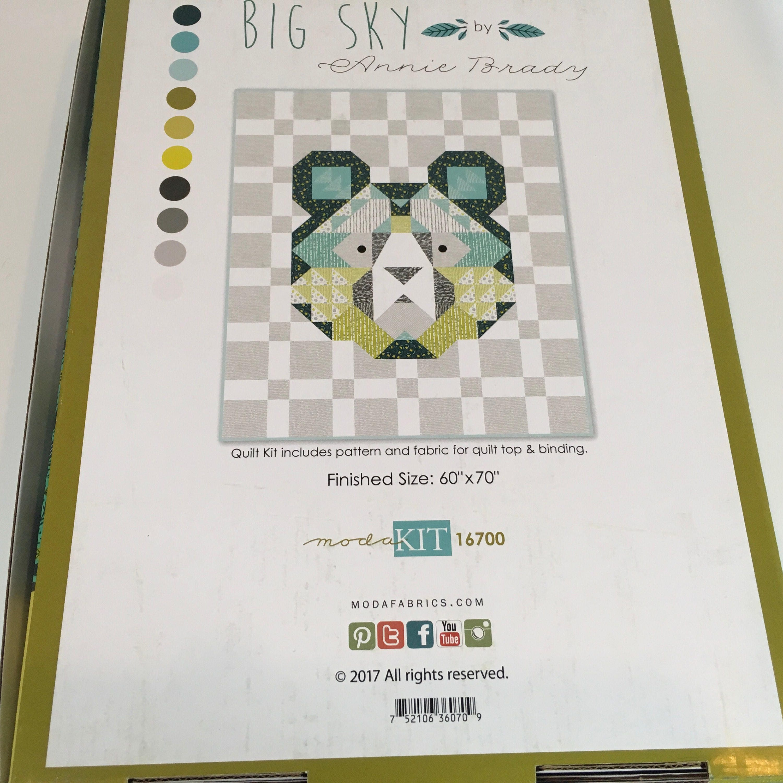 Sale Big Sky Kit By Annie Brady For Moda Kit16700