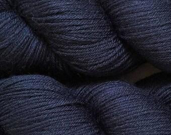 ON SALE Navy Cascade Heritage Yarn 437 yards Super Fine Wool Nylon Sock Yarn Color 5623