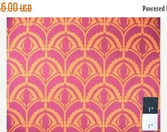 CLEARANCE SALE CLEARANCE Anna Marie Horner Drawing Room Plume Raspberry Cotton Home Decor Fabric 1 Yard