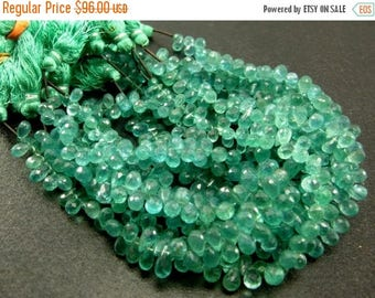50% Off Sale 1/2 Strand - Caribbean Waters Natural Apatite Faceted Drop Briolettes Size 7x4 to 8x5mm approx.