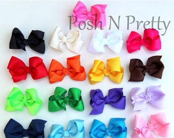 "20% OFF EXP 06/30 3"" Boutique Grosgrain bow with clip - Set of 5 - Choose colors"