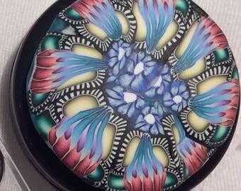 Kaleidoscope Flower Badge Holder