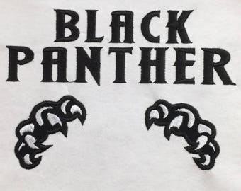 Black Panther Claws Applique, Avenger Applique Embroidery Design This is NOT A PATCH!