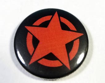 Red Star 1 Inch Button