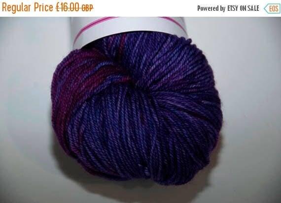 Christmas In July Hand-Dyed Yarn in Purple Haze Sock Yarn Merino/Cashmere/Nylon Lush Base