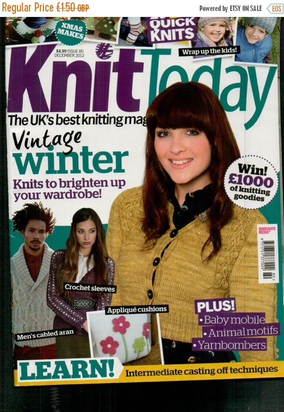 Christmas In July Knit Today Knitting Magazine Issue 80 December 2012