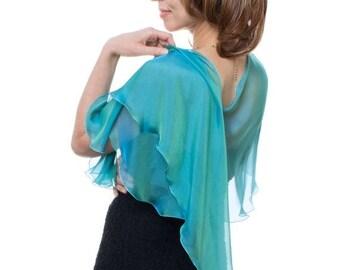 Promo Sale: Peacock Silk Fluttering Wrap