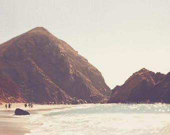large California print, Big Sur photograph, landscape photography, beachscape print, earth tones, coastal decor, West Coast art, neutral