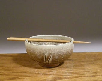 Clearance SALE , Ceramic Rice Bowl , Pottery Noodle Bowl , Handmade Bowl , Ramen Bowl , Pottery Bowl , Chopstick Bowl , Jon Whitney Pottery