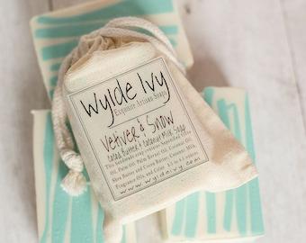 Vetiver & Snow Handmade Soap