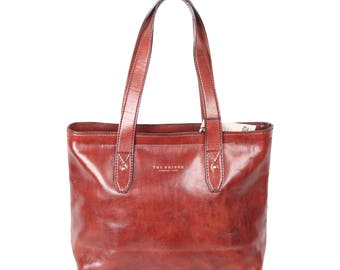 THE BRIDGE Vintage Brown Leather TOTE Handbag