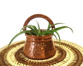 Hammered Copper Basket/ Small Vintage Hand Crafted Pot