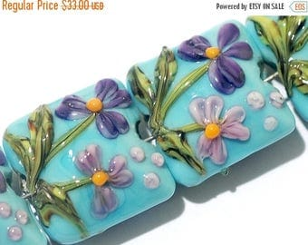 ON SALE 35% OFF Four Kiley's Bouquet Pillow Beads 11605814 - Handmade Grace Lampwork Beads