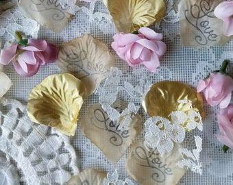 Boho Aisle Runner for Wedding /Blush Pink Wedding Decorations/Wedding Confetti Petals/Gold Bridal Shower Decorations/Send off/Rose Petals
